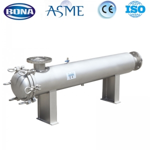 high flowed rate single cartridge filter housing