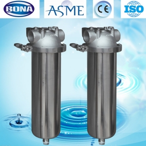Sanitary filter housing single cartridge filter