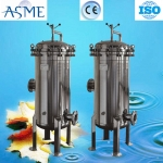 Customized double flanges cartridge filter housing