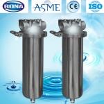 Sanitary filter housing single cartridge filter