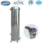 Cartridge water filter housing